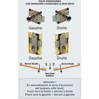 Serrure encloisonnée s45 version porte - Axe : 15 mm - Sens : Droite - Décor : Brut - Largeur : 30 mm - SERFA - Vendu à l'unité