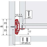 Coulisses à billes ka 4532 am silent system - Longueur : 500 mm - Profondeur intérieur de caisson mini : 504 mm - HETTICH - Matériau : Acier