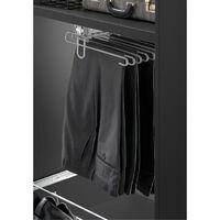 Porte pantalons coulissant - Matériau : Acier - Décor : Gris aluminium - Hauteur : 138 mm - Profondeur : 455 mm - Largeur : 350 mm - VIBO - Profondeur : 455 mm