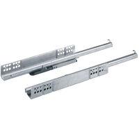 Coulisse bois quadro 25 push to open - Profondeur intérieur de caisson mini : 263 mm - Longueur : 250 mm - HETTICH - Montage : Sous tiroir