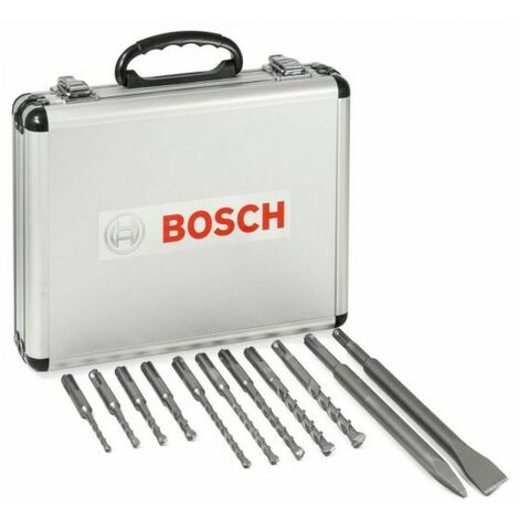 Bosch 11 Piece SDS Plus Mixed Hammer Drill & Chisel Set