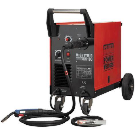 Sealey MIGHTYMIG190 Professional Gas/No-Gas MIG Welder 190Amp with Euro Torch