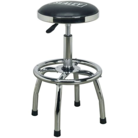 Sealey SCR17 Workshop Stool Heavy-Duty Pneumatic with Adjustable Height Swivel Seat