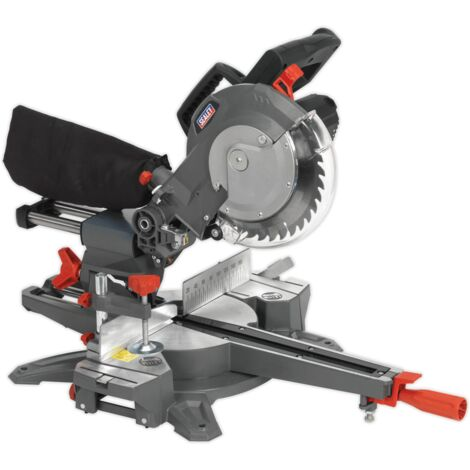Sealey SMS216 216mm Double Sliding Compound Mitre Saw 1800W 230V