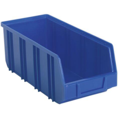Sealey TPS3D Plastic Storage Bin Deep 145 x 335 x 125mm Blue Pack of 16