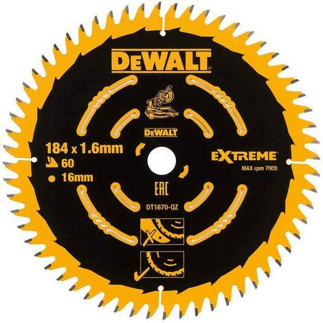 DeWalt DT1670-QZ Circular Saw Blade for DCS365 - 184 x 16mm 60T