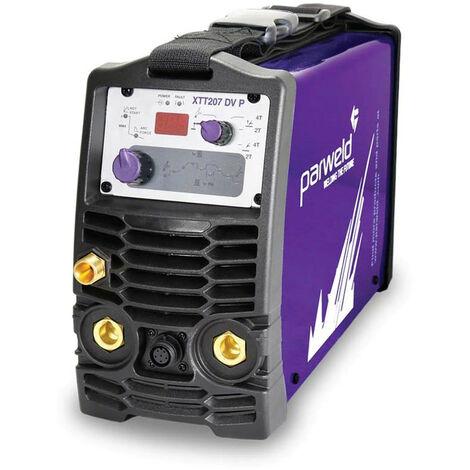 Parweld XTT207DV Pulsed Dual Voltage TIG Inverter With Torch & Regulator