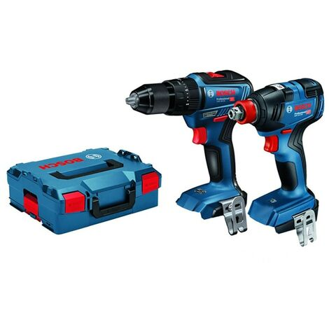Bosch 06019J2203 18v BL Combi Drill & Impact Wrench Twin Pack Body Only