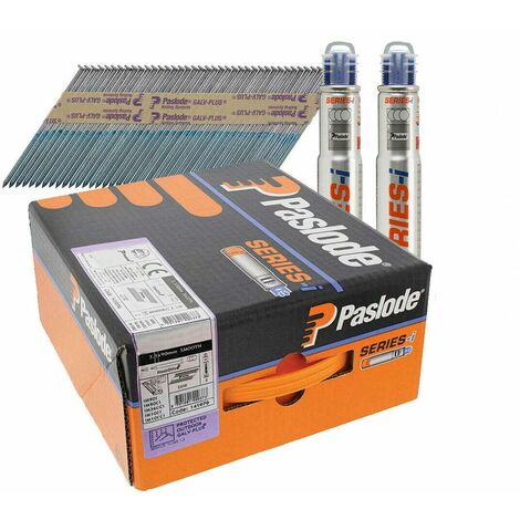 Paslode 141070 IM360 3.1 x 90mm Smooth Galv Plus nails 2200pk 2 Fuel Cells