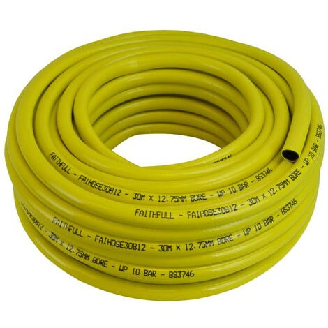 Faithfull FAIHOSE30B12 Heavy-Duty Reinforced Builders Hose 30m 12.5mm (1/2in) Diameter