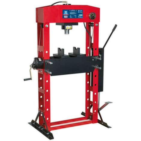 Sealey YK50FFP Hydraulic Press Premier 50tonne Floor Type with Foot Pedal
