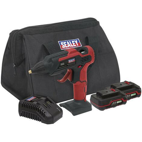 Sealey CP20VGGKIT Cordless Glue Gun Kit 20V - 2 Batteries
