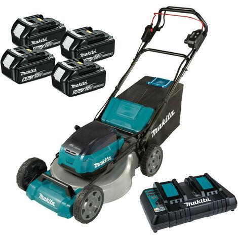 Makita DLM532PT4 Twin 18V LXT Cordless 53cm Lawnmower 4x 5.0Ah Batteries