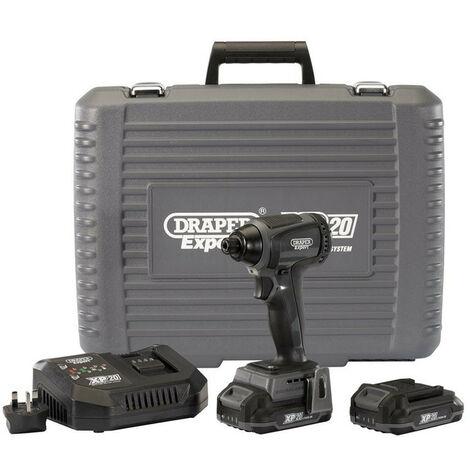"""Draper 98964 XP20 20V Brushless 1/4"""" Impact Driver 2x 2Ah Batteries (200Nm)"""
