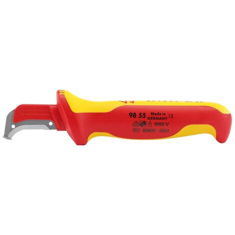Knipex 98 55 155mm Fully Insulated Cable Dismantling Knife