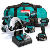 Makita MAKKIT3 18V Triple Kit with 2x 5.0Ah Batteries and Charger