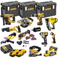 DeWalt TDKIT12X4 XR 18V 12 Piece Power Tool Kit with 4x 5.0Ah Batteries