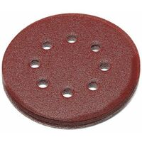 Abracs 125mm Hook & Loop Sanding Discs 8 Hole 40 Grit - 25 Pack
