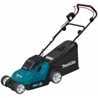 Makita DLM382CT2 Twin 18V 38cm Lawn Mower with 2x 5.0Ah Batteries