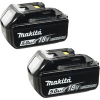 Makita BL1850 18V 5.0Ah LXT Lithium-Ion Battery (Twin Pack)