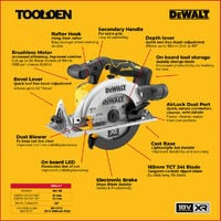 DeWalt DCS565N 18V XR 165mm Brushless Circular Saw (Body Only)