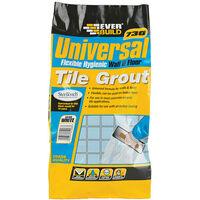 Everbuild EVBUFLEX5WE Universal Flexible Grout White 5kg