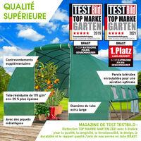 Serre Tunnel 12m² (3x4) extrêmement stable parois enroulables croissance optimale des plants, aération optimale, montage rapide - 12 m² serre de jardin de BRAST