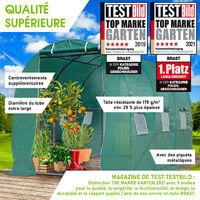 Serre Tunnel 6m² (3x2), extrêment stable, croissance optimale des plants, aération optimale, montage rapide - 6 m² Serre de Jardin de BRAST