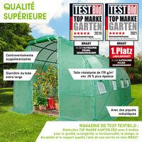 Serre Tunnel 12m2 (3x4), extrêment stable, croissance optimale des plants, aération optimale, montage rapide - 12 m² serre de jardin de BRAST