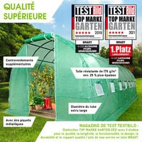 Serre Tunnel 24m² (3x8), extrêment stable, croissance optimale des plants, aération optimale, montage rapide - 24 m² serre de jardin de BRAST