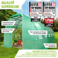 Serre Tunnel 18m² (3x6), extrêment stable, croissance optimale des plants, aération optimale, montage rapide - 18 m² serre de jardin de BRAST