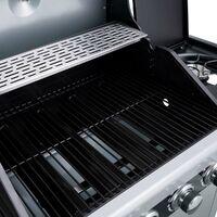 Barbecue gaz 4+1 brûleurs 14,5kW certifié acier inoxydable de haute qualité, nettoyage facile une housse, un détendeur et un tuyau de gaz inclus - de BRAST