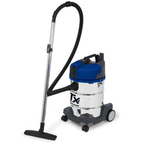 Aspirador agua y polvo 1400W – 30L – Acero inoxidable