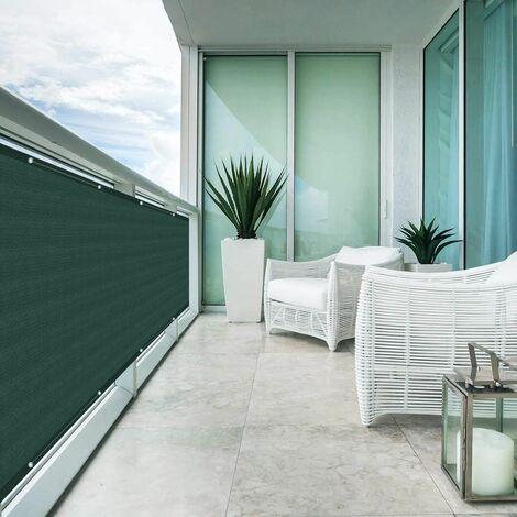 Brise Vue Balcon Jardin Terrasse HDPE 3 m x 0,9 m, vert