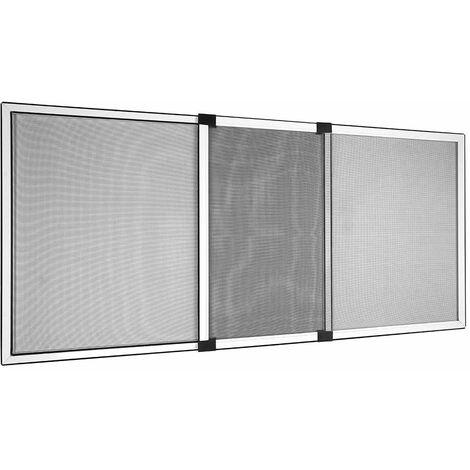 Moustiquaire Coulissante alu pour Fenêtre Cadre Blanc, 50x70cm