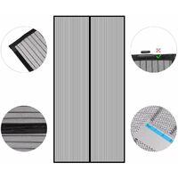 Sekey Rideau magnétique Noir ligne de pêche 100x220 cm