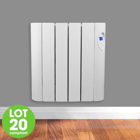 Futura 600W Oil Filled Electric Radiator Panel Heater 24/7 Day Timer Lot 20 Wall Mounted Low Energy Retention Heater