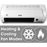 Futura 2000W Fan Heater Over Door Air Curtain Heater Week Timer & Remote