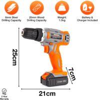 Cordless Drill 18V 13pc Terratek