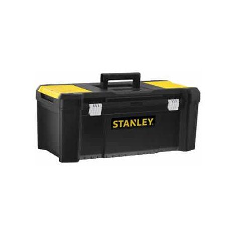 """Boîte à outils en plastique de 26 """"/ 67 cm avec fermoirs en métal Stanley"""