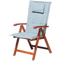 Cuscino sedia imbottito impermeabile sfoderabile strice blu real alto cu805724