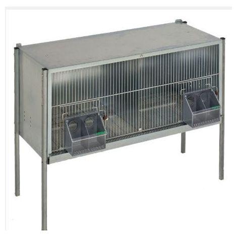Cage pigeons 1,20m-2 compartiments avec pieds