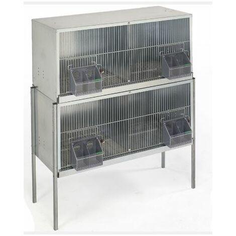 Cage pigeons 1m-4 compartiments avec pieds
