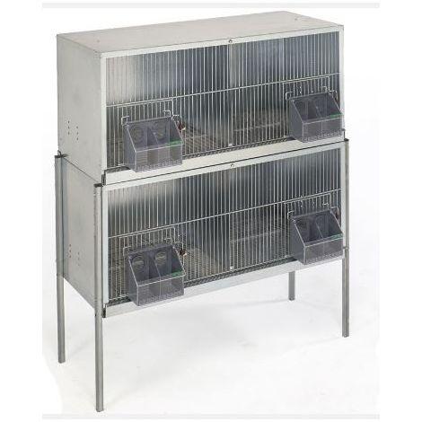 Cage pigeons  1,20m-4 compartiments avec pieds