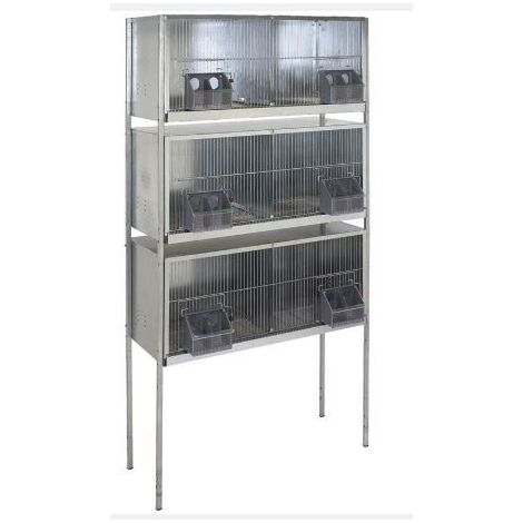 Cage pigeons 1m-6 compartiments avec pieds