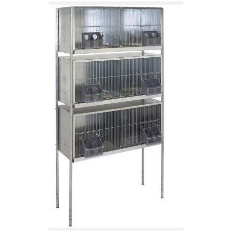 Cage pigeons  1,20m-6 compartiments avec pieds