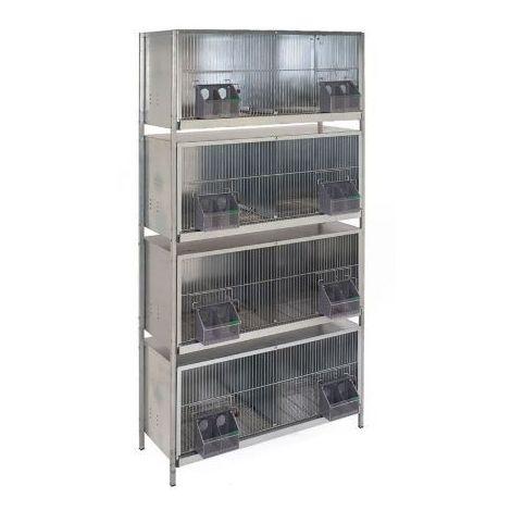 Cage pigeons 1m-8 compartiments avec pieds