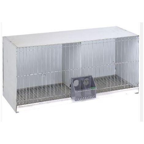 Cage avec plaque arrière en métal
