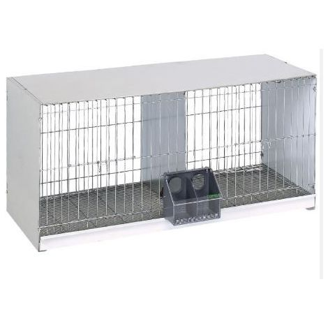 Cage avec plaque arrière-fil d'acier