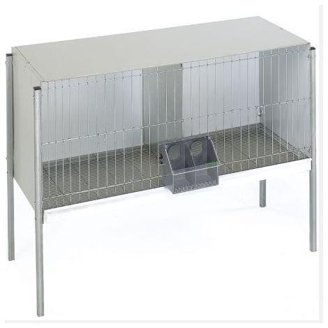 Cage métal. avec plaque arrière et pieds